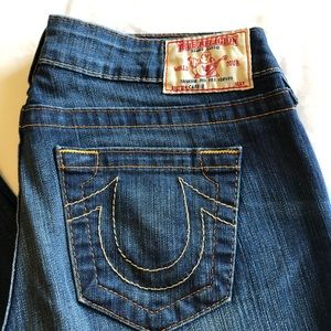 True religion boot cut jeans.